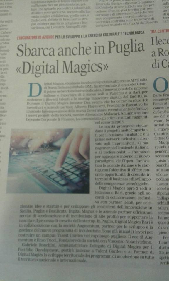 Digital apre a Bari la sede per Puglia (e Basilicata)